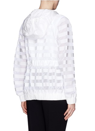 Back View - Click To Enlarge - Moncler Grenoble - 'Camlez' nylon stripe mesh jacket
