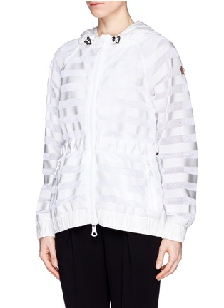 Front View - Click To Enlarge - Moncler Grenoble - 'Camlez' nylon stripe mesh jacket