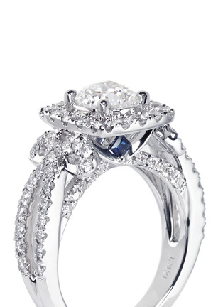 Detail View - Click To Enlarge - VERA WANG LOVE - Ribbons & Bows - diamond engagement ring