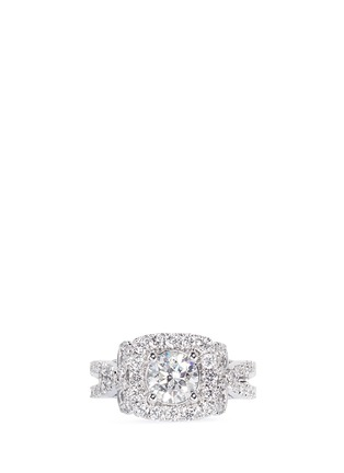 Main View - Click To Enlarge - VERA WANG LOVE - Ribbons & Bows - diamond engagement ring