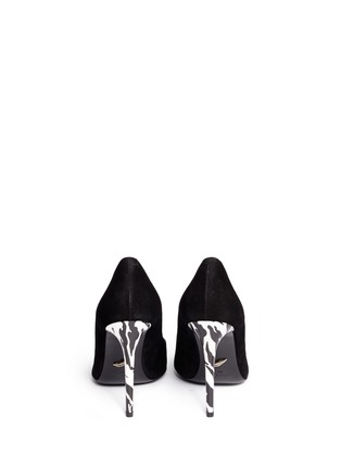 Back View - Click To Enlarge - DIANE VON FURSTENBERG SHOES - 'Bethany' abstract print stiletto suede pumps