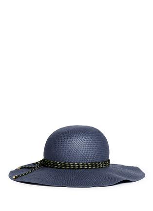 Main View - Click To Enlarge - Lanvin - Rope trim wide brim capeline hat