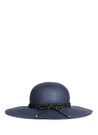 Figure View - Click To Enlarge - Lanvin - Rope trim wide brim capeline hat