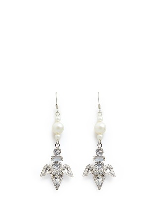 Main View - Click To Enlarge - Joomi Lim - Faux pearl crystal drop earrings