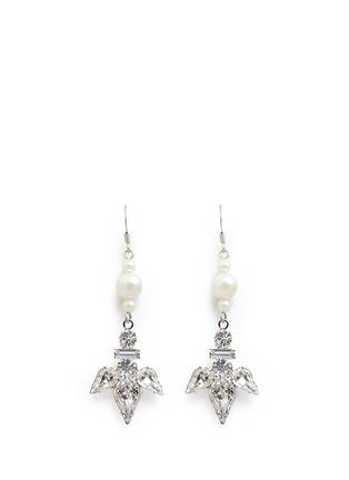 Main View - Click To Enlarge - Joomi Lim - Faux pearl crystal drop earrings