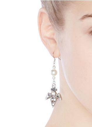 Figure View - Click To Enlarge - Joomi Lim - Faux pearl crystal drop earrings