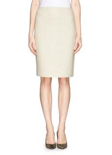 ST. JOHNGilded wool-blend knit pencil skirt