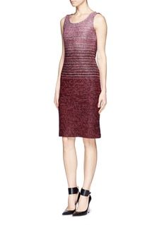 ST. JOHN Ombré tweed dress