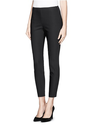 Front View - Click To Enlarge - ST. JOHN - Stretch cropped skinny pants