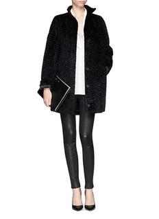 ALEXANDER MCQUEENTextured faux fur coat