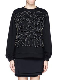 STELLA MCCARTNEYSquiggle zip front sweatshirt