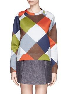 VALENTINOCheck neoprene sweatshirt