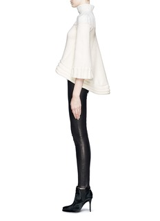 ALEXANDER MCQUEEN Flare back chunky turtleneck sweater