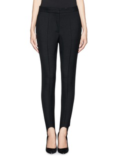 STELLA MCCARTNEY Elasticated foot strap wool pants