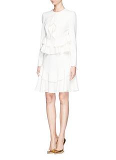 ALEXANDER MCQUEENLayer ruffle cascade drape dress
