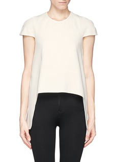 ALEXANDER MCQUEEN Silk blend high low hem top
