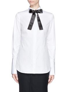 ALEXANDER MCQUEENWide cuff eyelet collar shirt