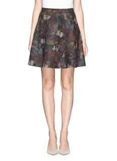 VALENTINOButterfly print wool-angora circle skirt