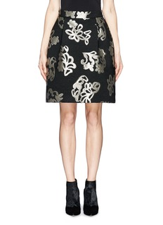 LANVINLurex jacquard pleat skirt