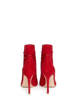 Back View - Click To Enlarge - Gianvito Rossi - V-throat lace-up boots