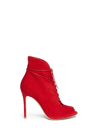 Main View - Click To Enlarge - Gianvito Rossi - V-throat lace-up boots