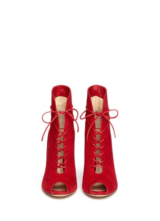 Figure View - Click To Enlarge - Gianvito Rossi - V-throat lace-up boots