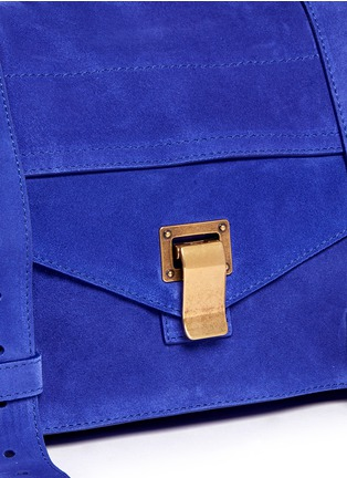 Detail View - Click To Enlarge - Proenza Schouler - 'PS1' medium suede satchel