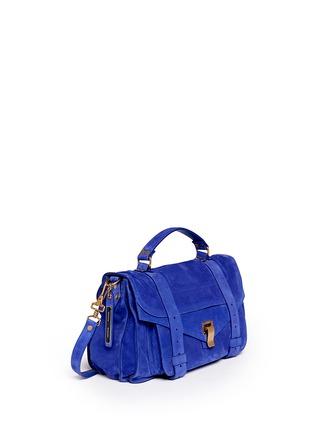 Front View - Click To Enlarge - Proenza Schouler - 'PS1' medium suede satchel