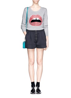 MARKUS LUPFER 'Lara lip' bejewelled wool sweater