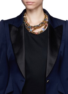 ASSAD MOUNSERSwarovski crystal chain necklace