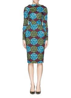 STELLA JEANGeometric kaleidoscope print structured dress