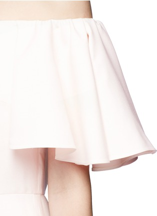Detail View - Click To Enlarge - Valentino - Ruffle Crepe Couture off-shoulder dress