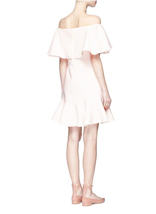 Back View - Click To Enlarge - Valentino - Ruffle Crepe Couture off-shoulder dress