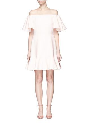 Main View - Click To Enlarge - Valentino - Ruffle Crepe Couture off-shoulder dress