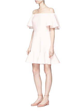 Figure View - Click To Enlarge - Valentino - Ruffle Crepe Couture off-shoulder dress