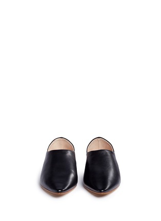 Front View - Click To Enlarge - Acne Studios - 'Amina' leather babouche slides