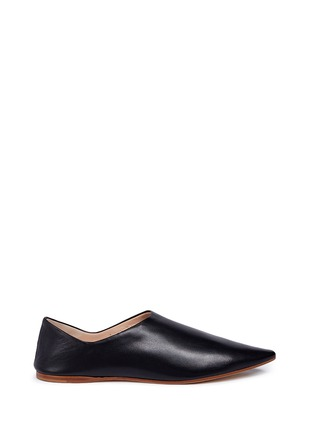 Main View - Click To Enlarge - Acne Studios - 'Amina' leather babouche slides