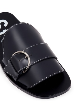 Detail View - Click To Enlarge - Acne Studios - 'Virgie' buckle leather slide sandals