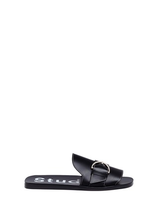 Main View - Click To Enlarge - Acne Studios - 'Virgie' buckle leather slide sandals