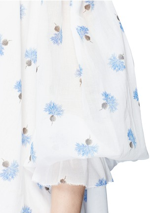 Detail View - Click To Enlarge - Alexander McQueen - Floral print cotton voile off-shoulder dress