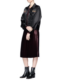 Ms MIN Pleated satin skirt