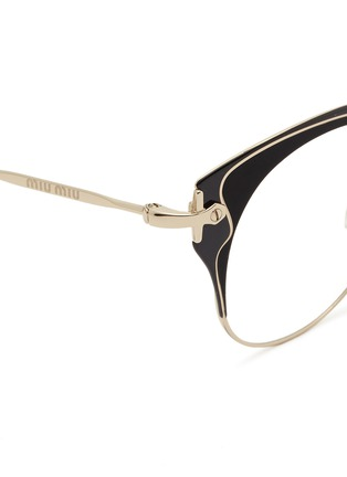 Detail View - Click To Enlarge - miu miu - Acetate inlay wire cat eye optical glasses