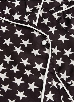 Detail View - Click To Enlarge - LOVESTORIES - 'Julian' star print satin pyjama shirt