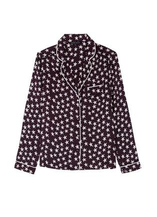 Main View - Click To Enlarge - LOVESTORIES - 'Julian' star print satin pyjama shirt