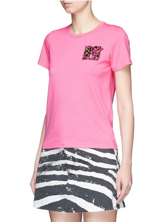 Front View - Click To Enlarge - Marc Jacobs - x MTV sequin logo jersey T-shirt