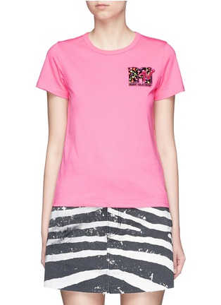 Main View - Click To Enlarge - Marc Jacobs - x MTV sequin logo jersey T-shirt