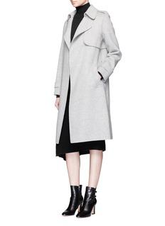 MO&CO. EDITION 10Mock wrap woven wool skirt