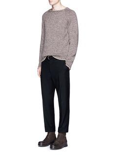 EidosBeige stripe virgin wool sweater