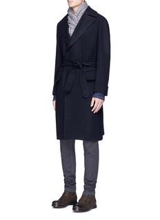 Eidos Belted wool hopsack Ulster coat