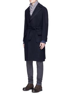 EidosBelted wool hopsack Ulster coat